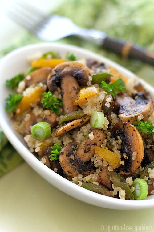 Quinoa Mushroom Pilaf, Quinoa Mushroom Pilaf recipe, Quinoa Mushroom Pilaf ingredients, Quinoa Mushroom Pilaf directions