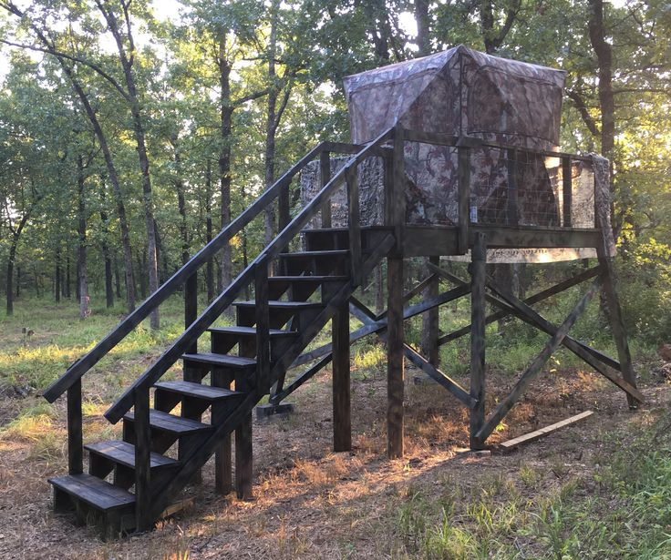 254 best deer stands images on pinterest deer stands for Deer hunting platforms
