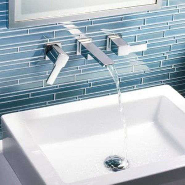 moen wall mount lowarc lavatory bathroom faucet trim kit in chrome valve sold separately the home depot