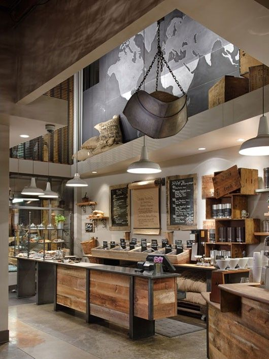 Not A Kitchenbut Would Make Nice Design For One I Think AP Interior Of 12 Coffeeshops Around The World This With Map Is My