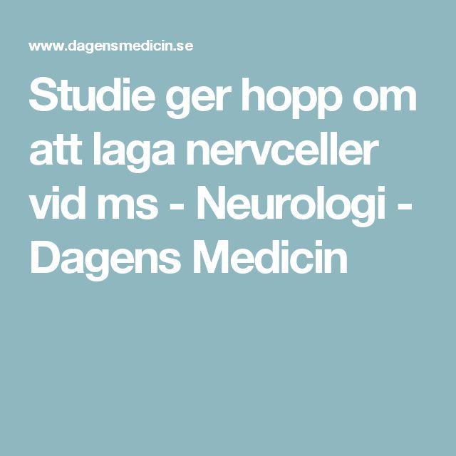 Studie ger hopp om att laga nervceller vid ms - Neurologi - Dagens Medicin