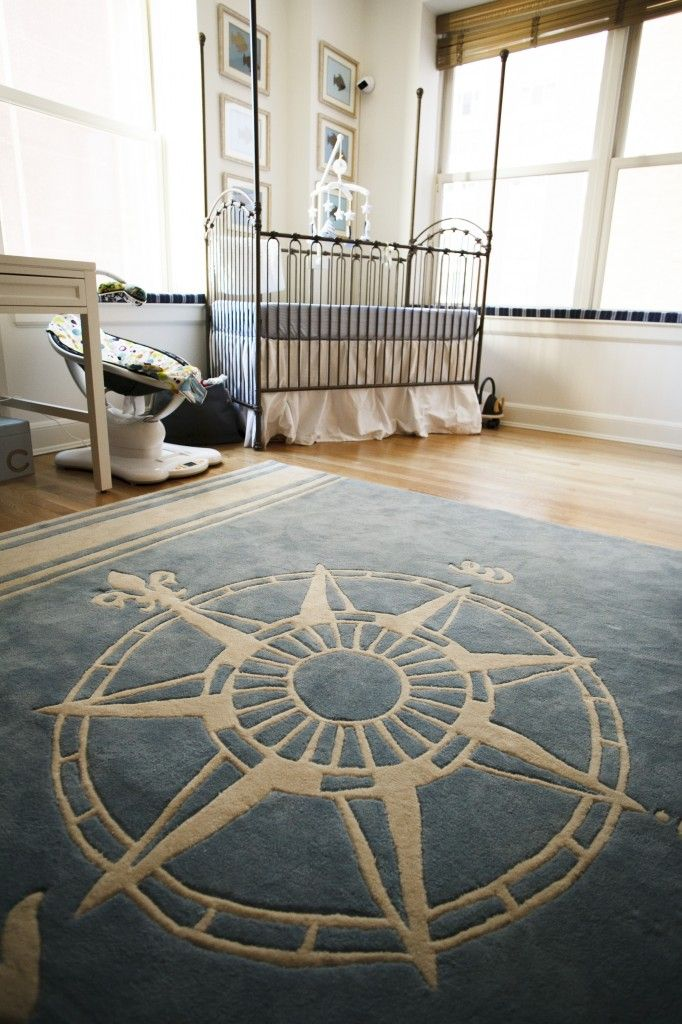 Compass Rug for a nautical theme that can grow with your child #nursery
