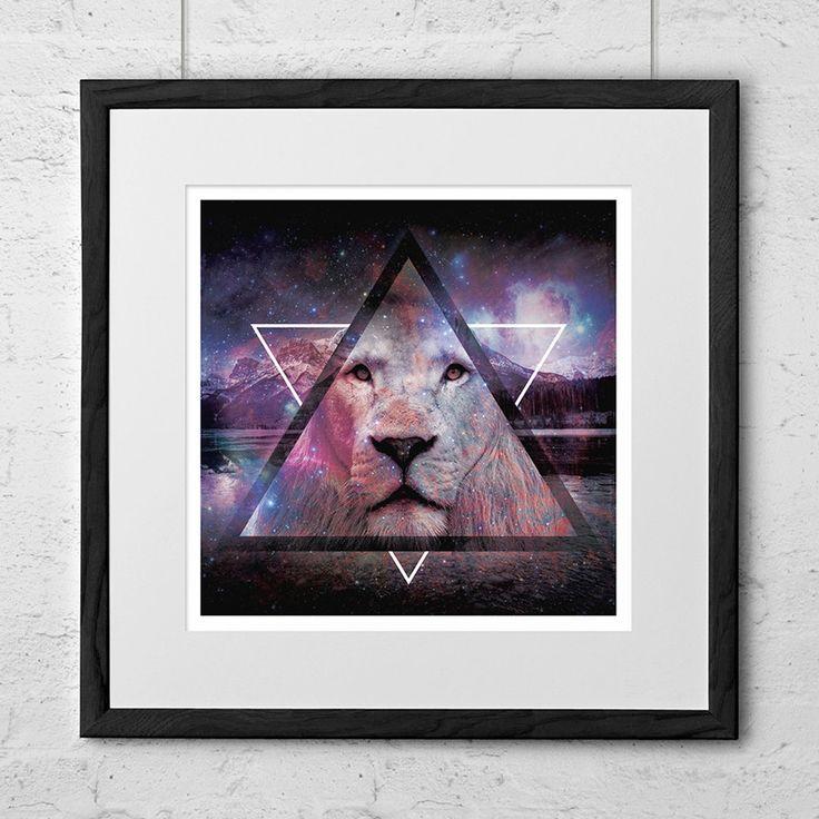 Mountain Lion Art Print by NeedsAndWishesArt on Etsy