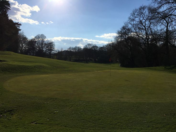 The 14th green at Beckenham Place Park Golf Course