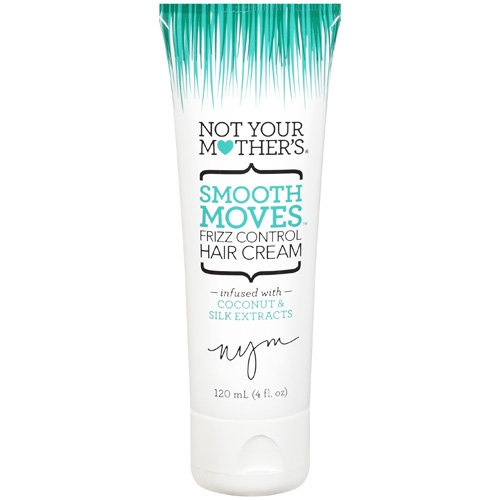 Not Your Mothers 'Smooth Moves Frizz Control Hair Cream'. I just got this and it is wonderful on this curly / frizzy hair!