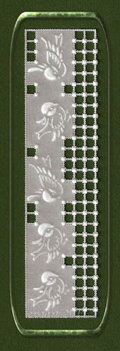 White bookmark , Project by Ewa Maria Piechota