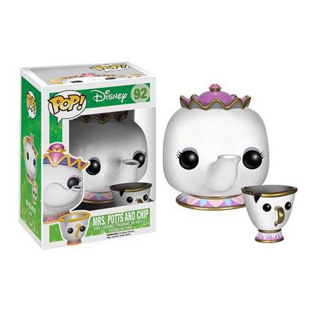 Beauty and the Beast Mrs. Potts And Chip Pop! Vinyl Figures : Forbidden Planet