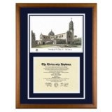 University of San Diego California Diploma Frame with USD Lithograph Art PrintBy Old School Diploma Frame Co.