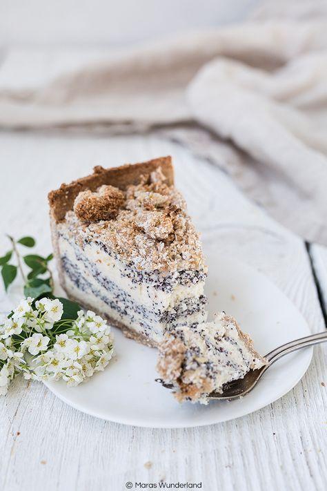 Healthier poppy seed coconut quark cake with sprinkles