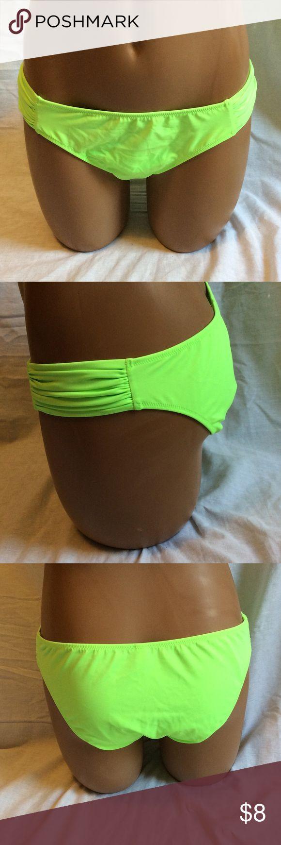 Victoria's Secret Green Bikini Bottoms Super cute, great condition! 80% nylon. 20% elastane. Victoria's Secret Swim Bikinis