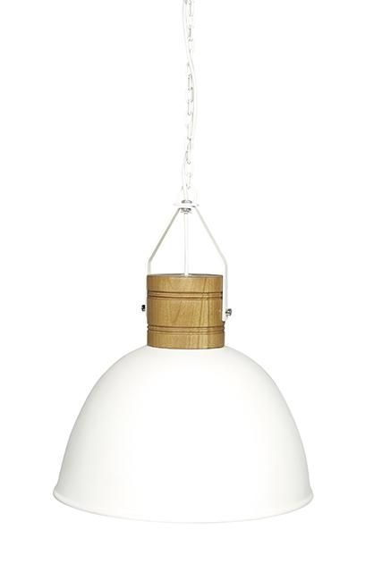 Brooklyn Loft Pendant in White Fibreglass #globewest #lighting #style #contemporary