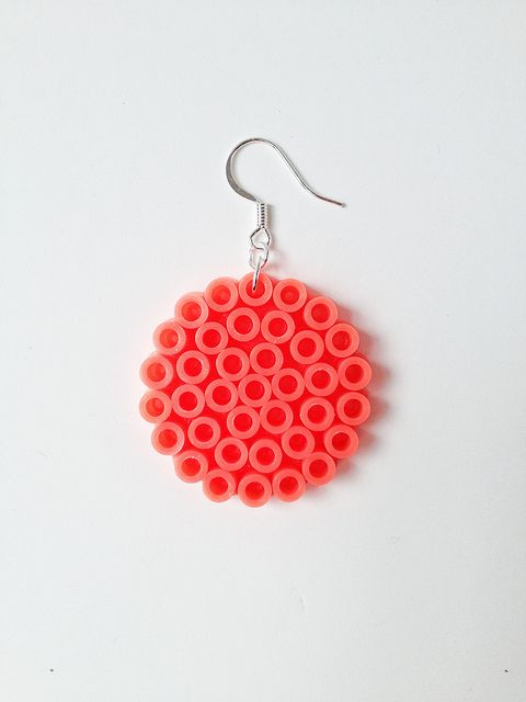 DIY Perler Bead Earrings - yet another excuse for me to buy some beads