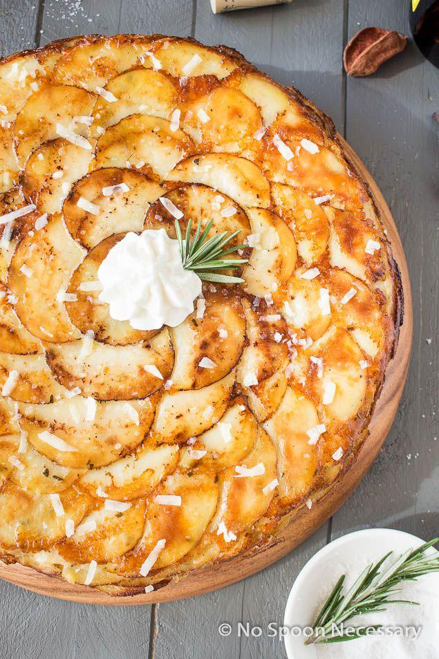 Asiago, Roasted Garlic & Rosemary Potato Galette