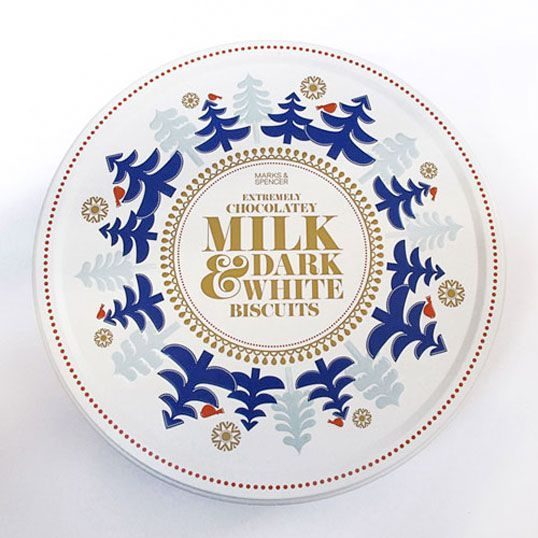 A tin that I worked on with Sanna Annuka for marks and spencer: