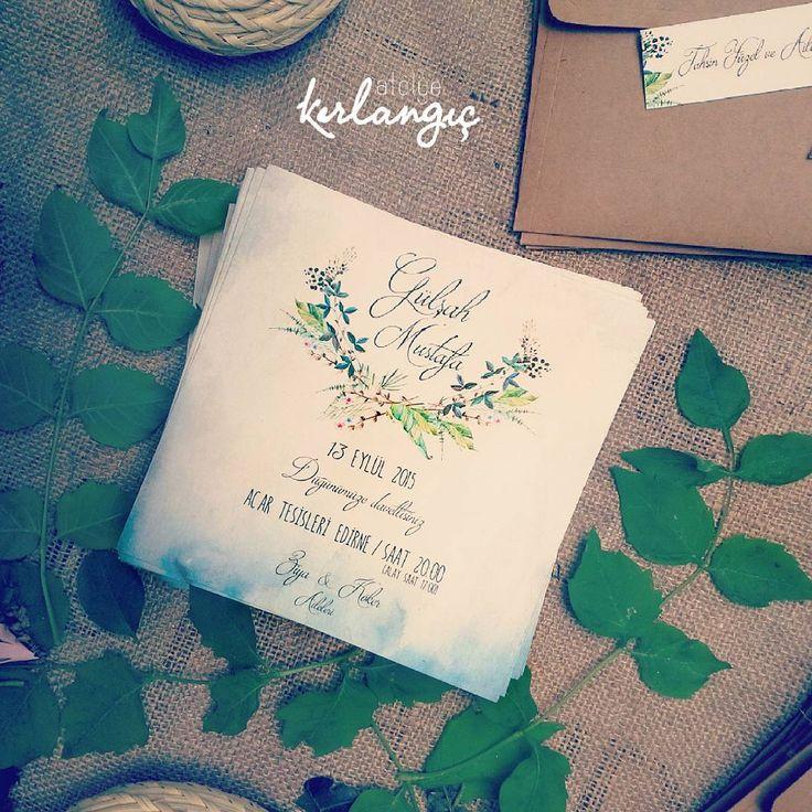 """İkimiz birden sevinebiliriz, göğe bakalım """"Turgut uyar"""" #davetiye#wedding#tasarım#atolyekirlangic#invitation#card#kina#weddingcard#dugun#davetiyeler#gelin#nisan#vintage#nikah#dugundavetiyesi#turgutuyar"""