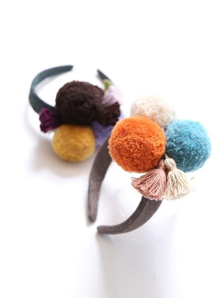 Tia Cibani Kids Pompom Tassel Headband