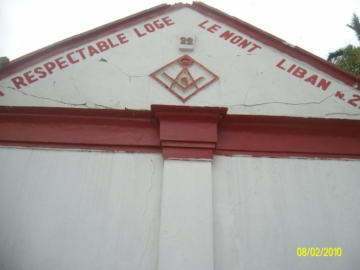Haitian Masonic lodge, damaged after earthquake