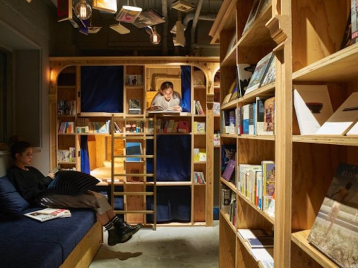 You can now spend the night in the world's first library hotel