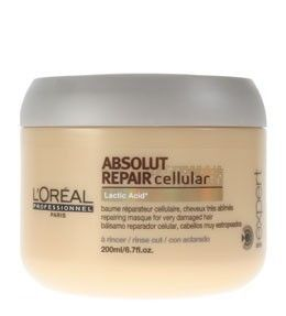 This is the L'Oreal Absolut Repair Cellular Lactic Acid masque.  This is the best masque/conditioner ever!  We definitely recommend you try it.  Great for thick, course hair.  Makes it shiny and smooth.