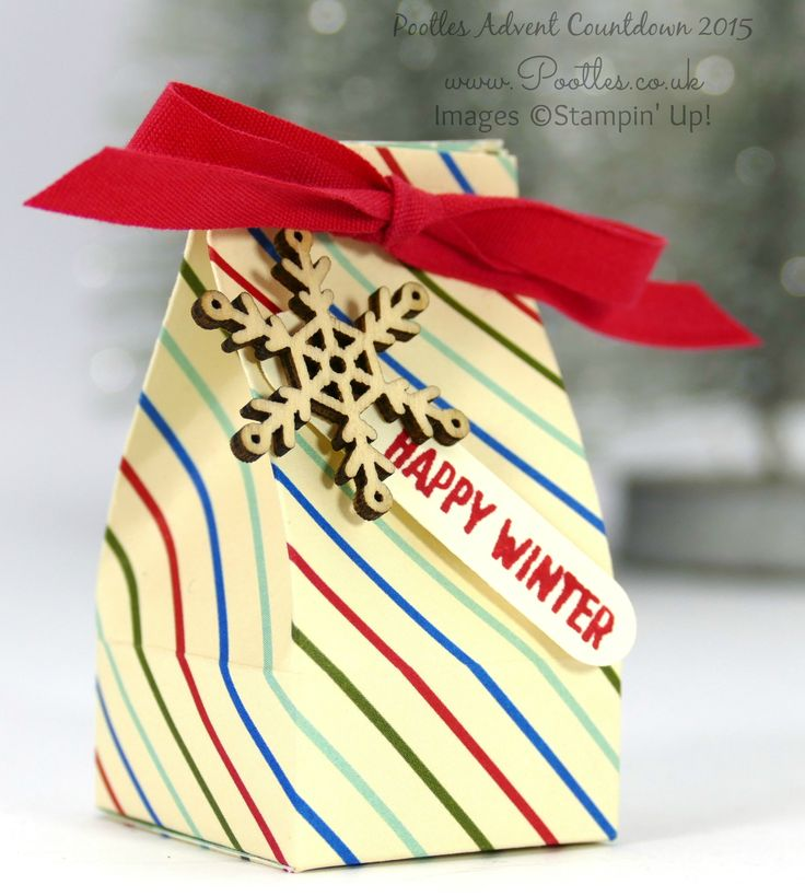 Pootles Advent Countdown #14 Mini Box for Chocolate Balls Tutorial Squeeeeeeaaaaak! It's a super mini box! You can get 6 of these from a sheet of designer series paper and they hold a lot mo...