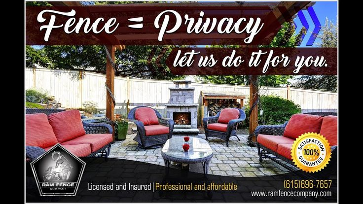 Fence = Privacy, let us do it for you.