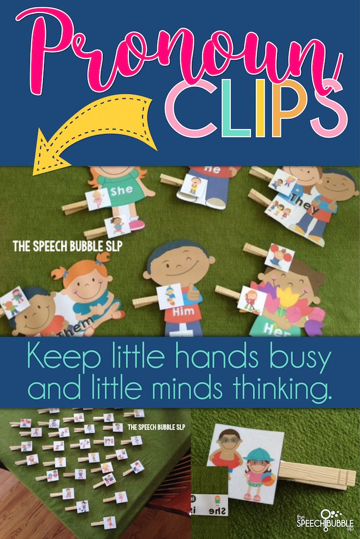 Keep little hands busy and little minds thinking!  These clips help students understand pronouns by getting them involved during the lesson. Use the workbooks to help student deepens their understanding and have fun showing off their skills!