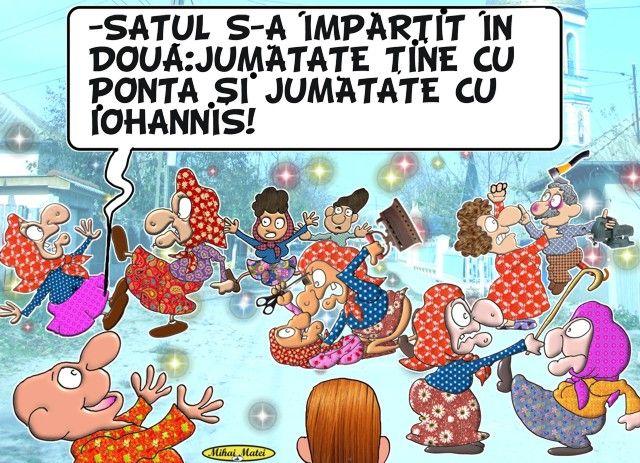 Satul s-a împărţit în două: jumătate ţine cu Ponta, jumătate cu Iohannis!