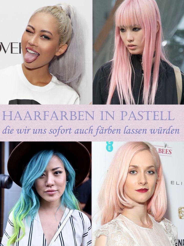 Aschefarbene Haare und Pastell Haarfarben werden 2017 dominieren - wir freuen uns auf all die bunten, matten Töne!