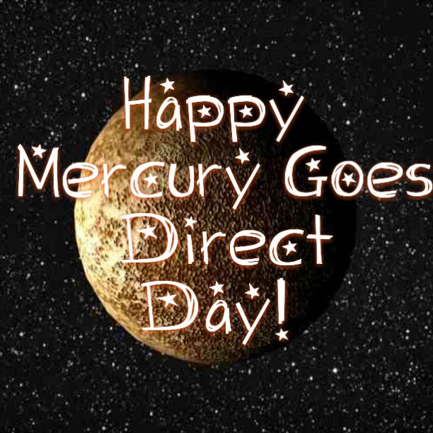 Mercury Retrograde ends TODAY! Jan 25, 2016