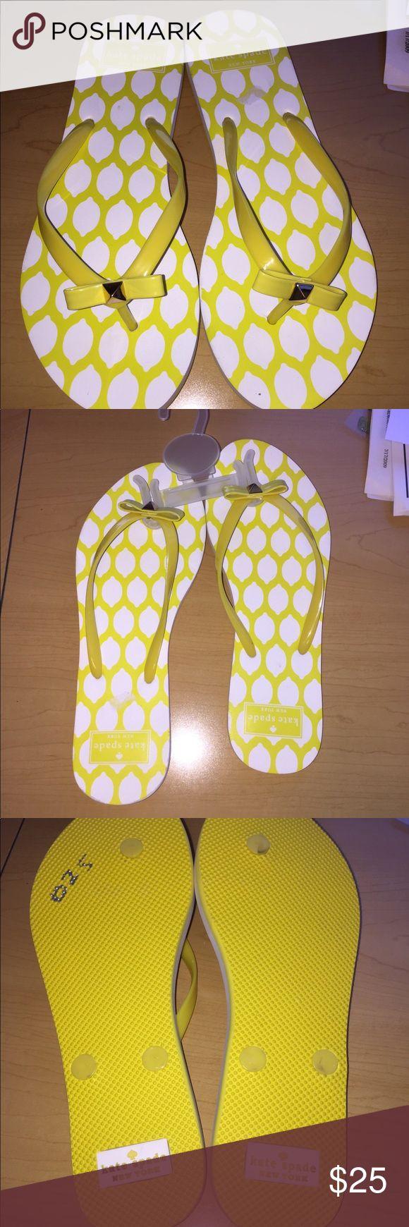 Kate Spade ♠️ yellow flip flops NWOT NWOT Kate Spade Yellow Flip Flops. Box not included kate spade Shoes Sandals