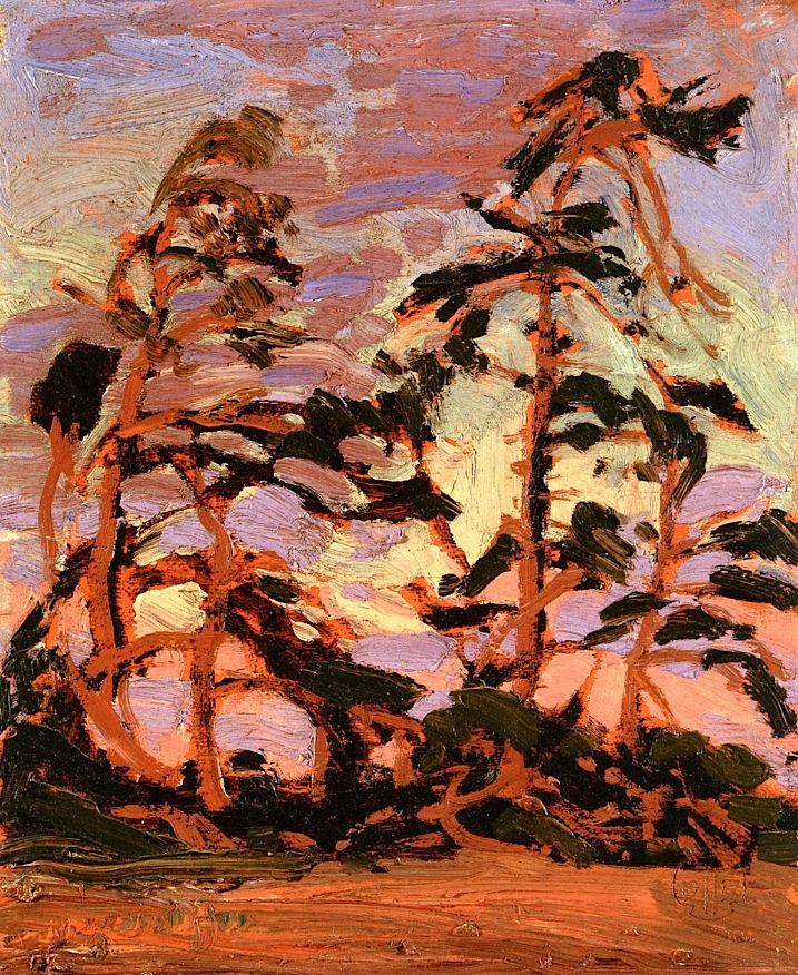 Evening, Pine Island Tom Thomson - 1914