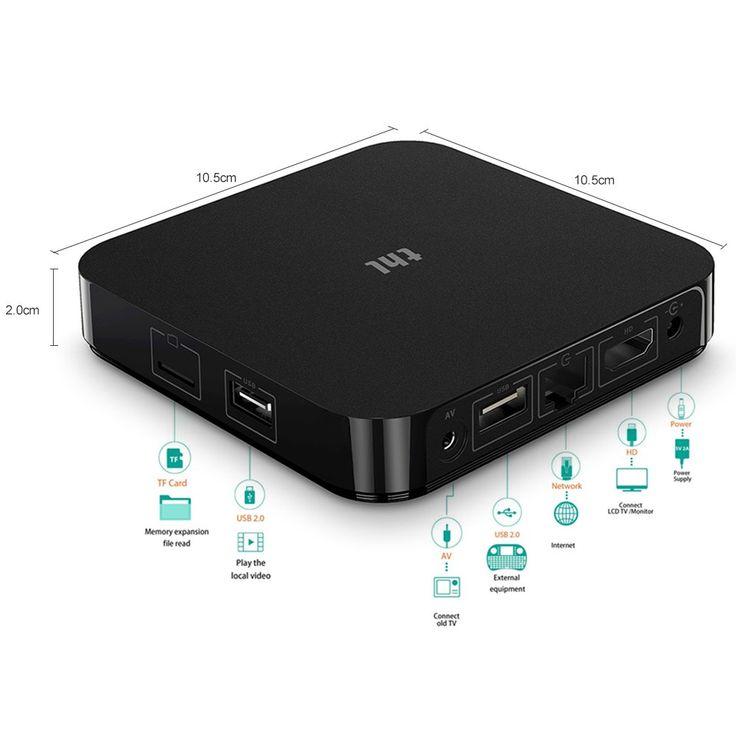 eu thl Smart Android 7.1 TV Box Amlogic S905X Quad-core UHD 4K 2GB - Tomtop.com