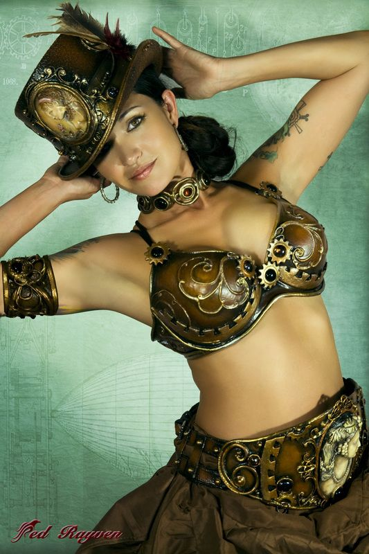 Steampunk Burlesque Set (Princess Leia meets Steampunk?)