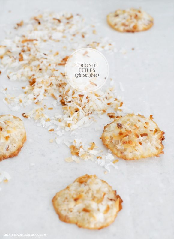 Coconut Tuile Cookies