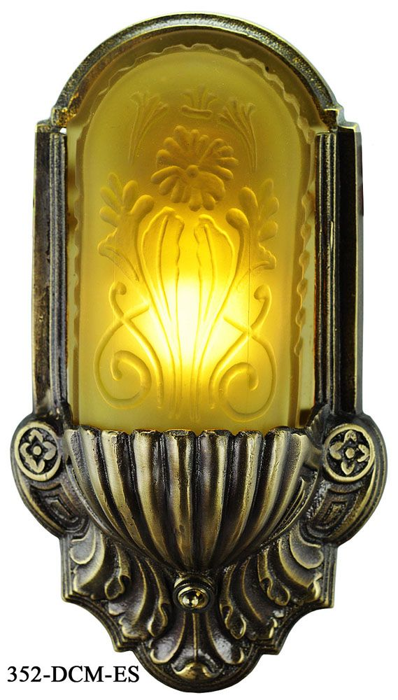 28 best 12 volt led boat rv lights images on pinterest victorian art deco boat wall sconce with amber embossed shade 352 dcm es aloadofball Choice Image