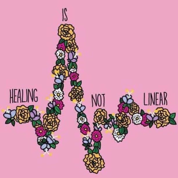SOURCE: FRIZZ KID ART @frizzkidart Healing is not linear. I feel crappy a lot of days still. I have my ups and downs but there are many days I haven't had a drop to drink and feeling like I had a mad hangover. Feeling 100% is my dream....someday. #health #healing #cpap #sleepapnea #brainhealth #mentalillness #anxiety #depression #chronicfatigue #fatigue