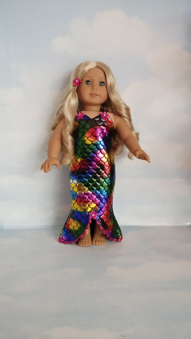 18 Inch Doll Clothes Mermaid Dress Handmade To Fit The