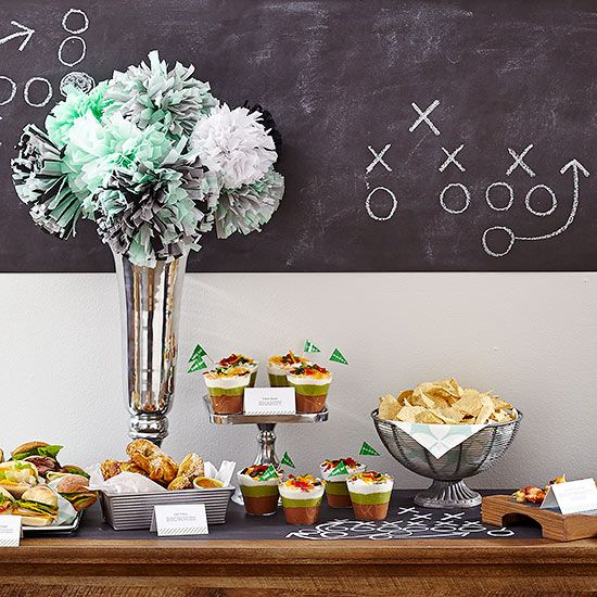 Watching the Super Bowl is only half the fun. Lure friends and family with a comfortable venue to watch the big game, and celebrate Super Bowl Sunday with good company and conversation. Pump up the festivities with football-theme decorations and kick off your game-day menu with the delicious appetizers, desserts, and fresh beverages that follow./