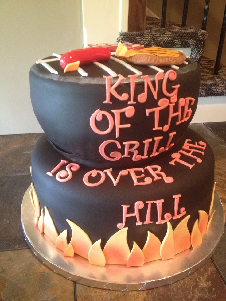 King Of The Grill Cake In 2019 70th Birthday Cake For