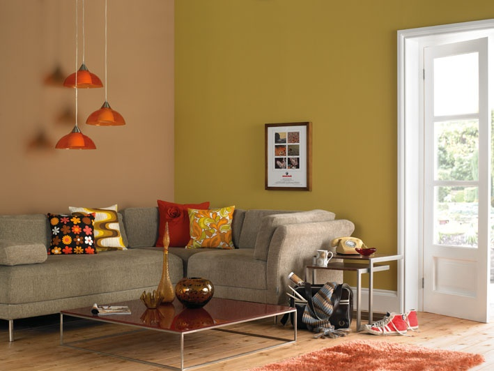 Features Crown Paints Vintage Range Mean Mustard And Chelsea Girl