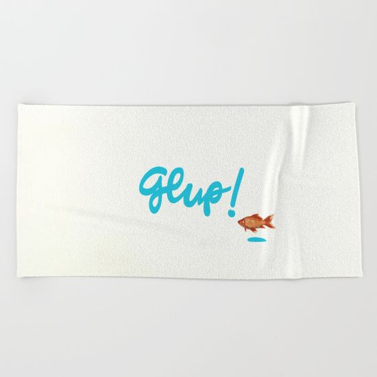 Glup! Countercurrent - 1 Beach Towel by Maria Caballer. Worldwide shipping available at Society6.com. Just one of millions of high quality products available.