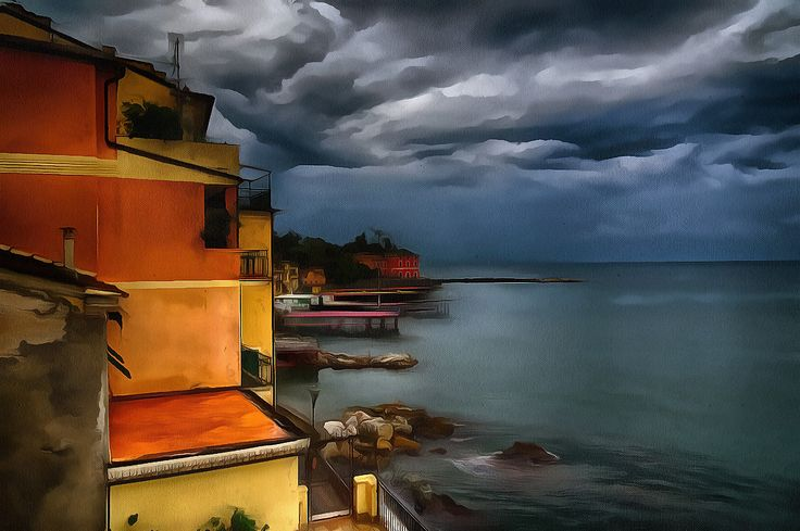 Waiting for the Thunder Storm. Rapallo, Liguria.