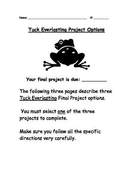 essay everlasting tuck Tuck everlasting this is a novel study for tuck everlasting by natalie babbitt 48 pages of student work, plus an answer key this novel study divides tuck everlasting into six sections for study.