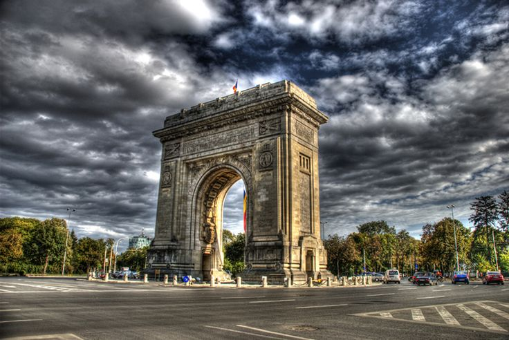 Arcul de Triumf is a triumphal arch located in the northern part of Bucharest, on the Kiseleff Road.
