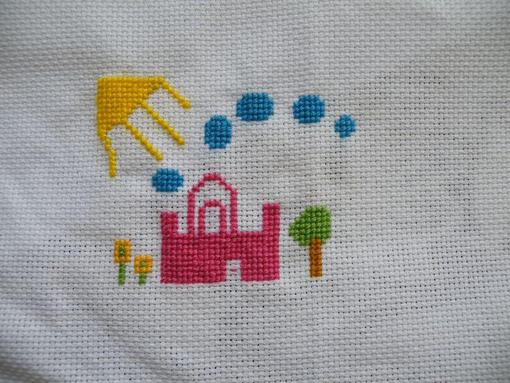 haft wg schematu zaprojektowanego przez córkę