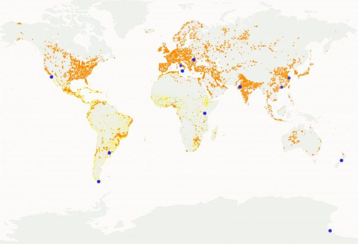 Where people live? THIS WORLD MAP SHOWS WHERE PEOPLE LIVE. ITS ELABORATION WAS POSSIBLE THANKS TO THE SATELLITE PHOTOS OF THE HIGHLIGHTED AREAS OF THE PLANET DURING NIGHT (IN ORANGE) AND THE DATA OBTAINED FROM DIFFERENT AGENCIES SUCH AS THE UN (IN YELLOW). IN THIS ISSUE, PDA # 8 WILL PROPOSE TO YOU ARTICLES REGARDING THE MARKED AREAS (CIRCLE). * PDA # 7 WAS IN CHARGE WITH THE SHANGHAI AND GUANGZHOU TOPICS, WHILE # 2 PDA CONTAINS DIFFERENT ARTICLES FROM ROME.