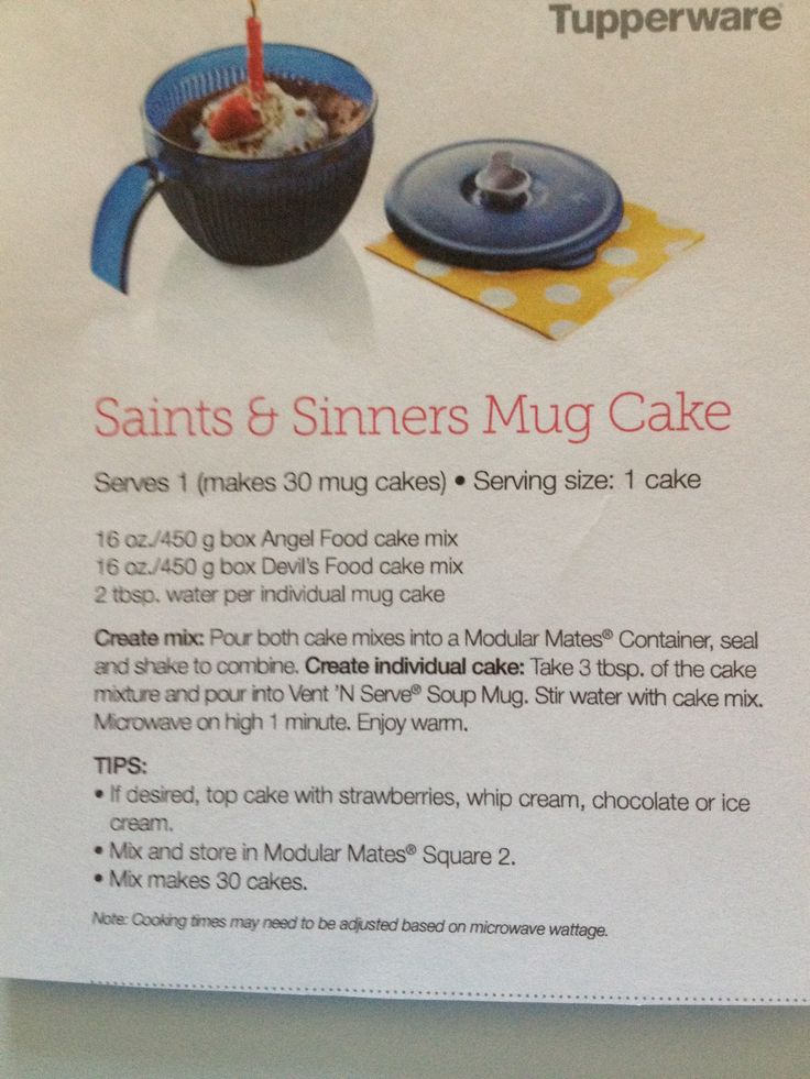 Tupperware Soup Mug Cake Recipe