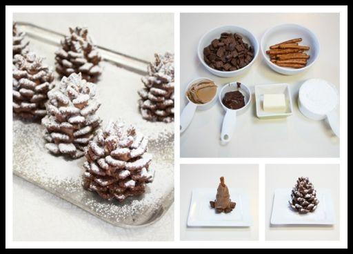 DIY Easy Snowy Chocolate Pinecones Recipe | UsefulDIY.com Follow us on Facebook ==> https://www.facebook.com/UsefulDiy