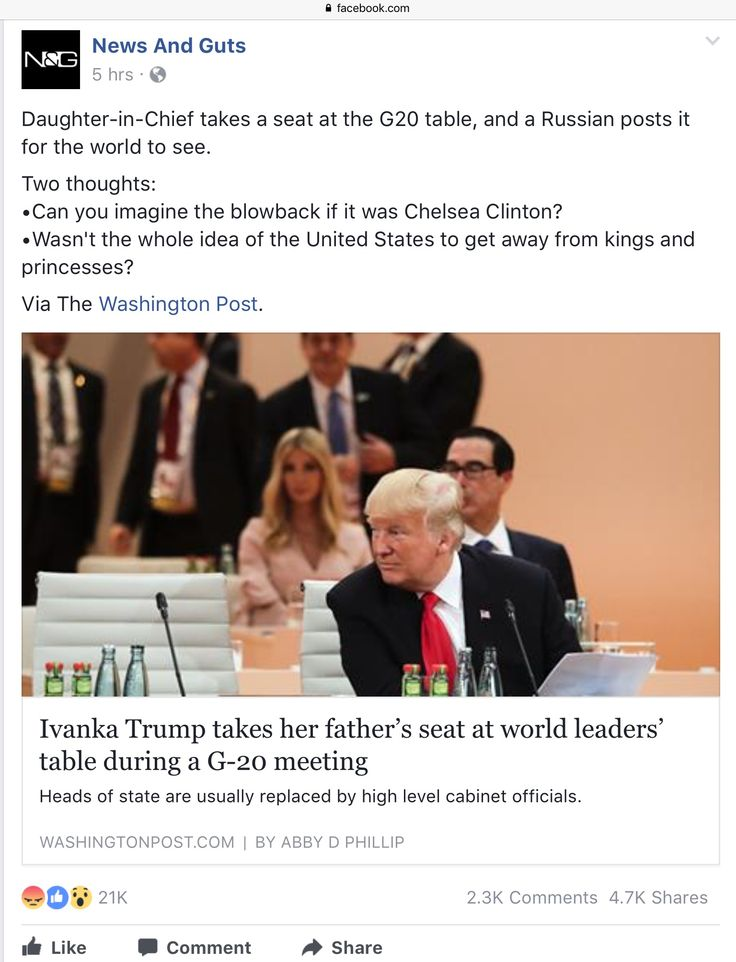 Daughter-in-Chief takes a seat at the G20 table, and a Russian posts it for the world to see.  Two thoughts: •Can you imagine the blowback if it was Chelsea Clinton? •Wasn't the whole idea of the United States to get away from kings and princesses?