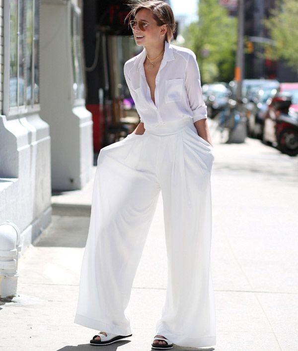 Como Usar Pantalona Branca como uma Fashion Girl